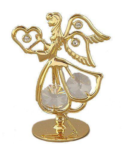 Сувенир Ангел с сердцем, с хрусталиками СваровскиШкатулки, копилки, статуэтки<br>Сувенирный ангел станет идеальным подарком близкому человеку и всем любителям эксклюзивных вещей ручной работы. Он является символом служения, а также высшей духовности, чистоты и заступничества.Сувенир украшен стразами Swarovski, которые были признаны сп...<br><br>Год: 2017<br>Высота: 50<br>Ширина: 70<br>Толщина: 30