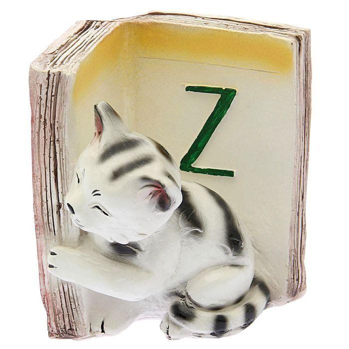 Подставка для книг Котята - Z, бордоАксессуары и сувениры<br>Держатель для книг - практичный сувенир и прекрасный подарок.Материал: гипс.<br><br>Год: 2017<br>Высота: 190<br>Ширина: 200<br>Толщина: 200