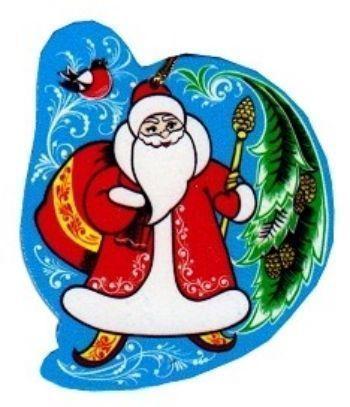 Игрушка новогодняя Дед МорозНовогодние украшения<br>Елочная игрушка выполнена в стиле хохломской росписи, сделана из натурального дерева, на веревочке.<br><br>Год: 2017<br>Высота: 85<br>Ширина: 80<br>Толщина: 3