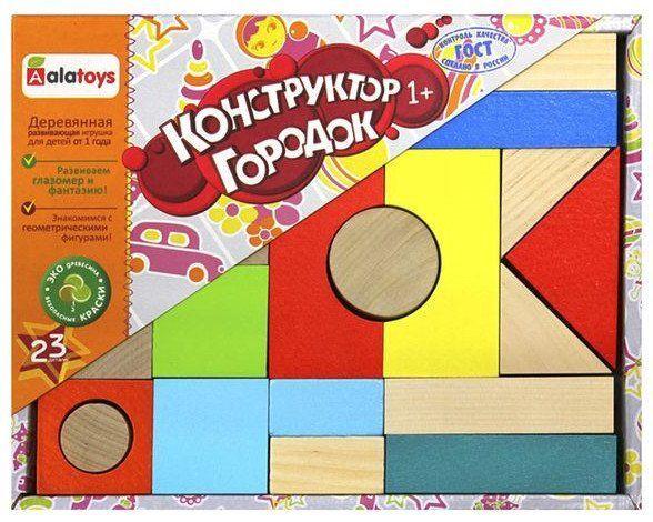 Конструктор ГородокЛабиринты, головоломки, конструкторы<br>Конструктор Городок, наполовину окрашенный, состоит из 23 деталей и идеально подходит детям от 1 года, потому как отвечает важнейшим требованиям, предъявляемым к детским игрушкам.Играя с конструктором, ваш малыш легко запомнит названия основных цветов, ...<br><br>Год: 2018<br>Высота: 175<br>Ширина: 220<br>Толщина: 30