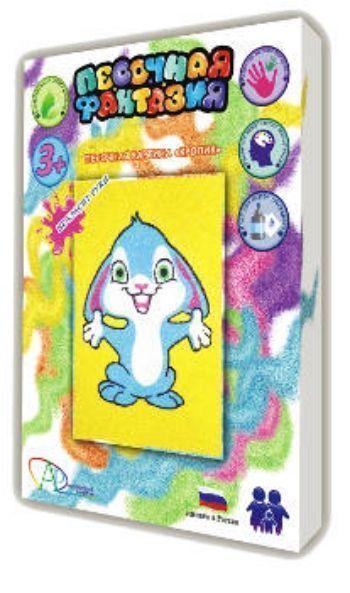 Набор для творчества Песочная фантазия. КроликКартины из песка<br>Набор для творчества Песочная фантазия - это увлекательная раскраска цветным песком для детей от 3-х лет. Полезные свойства игры способствуют развитию внимания, мелкой моторики, творческих и художественных способностей ребенка, усидчивости и памяти.Разм...<br><br>Год: 2015<br>Высота: 220<br>Ширина: 160<br>Толщина: 35