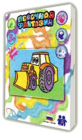 Набор для творчества Песочная фантазия. БульдозерКартины из песка<br>Набор для творчества Песочная фантазия - это увлекательная раскраска цветным песком для детей от 3-х лет. Полезные свойства игры способствуют развитию внимания, мелкой моторики, творческих и художественных способностей ребенка, усидчивости и памяти.Разм...<br><br>Год: 2015<br>Высота: 220<br>Ширина: 160<br>Толщина: 35