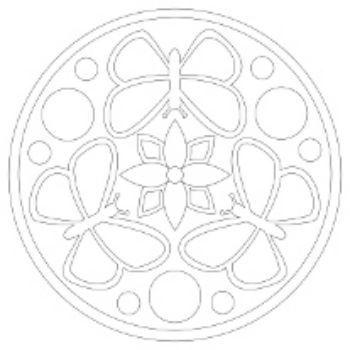 Трафарет для цветного песка Мандала №3Картины из песка<br>Трехслойная картонная основа с вырезанным лазером трафаретом для рисования песком.<br><br>Год: 2016<br>Высота: 210<br>Ширина: 210<br>Толщина: 1