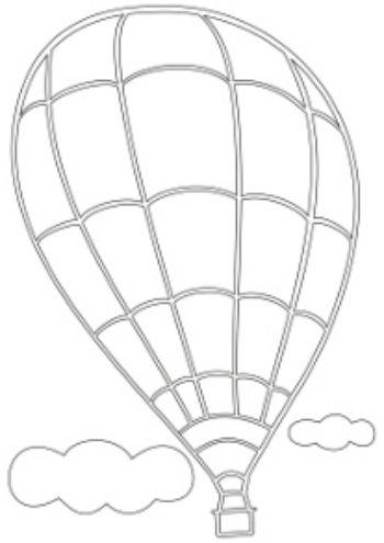 Трафарет для цветного песка Воздушный шарКартины из песка<br>Трехслойная картонная основа с вырезанным лазером трафаретом для рисования песком. Формат А4.<br><br>Год: 2016<br>Высота: 295<br>Ширина: 210<br>Толщина: 1