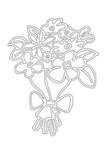 Трафарет для цветного песка Букет цветовКартины из песка<br>Трехслойная картонная основа с вырезанным лазером трафаретом для рисования песком. Формат А4.<br><br>Год: 2016<br>Высота: 295<br>Ширина: 210<br>Толщина: 1