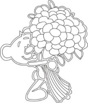 Трафарет для цветного песка Мишка с букетомКартины из песка<br>Трехслойная картонная основа с вырезанным лазером трафаретом для рисования песком. Формат А5.<br><br>Год: 2015<br>Высота: 210<br>Ширина: 150<br>Толщина: 1