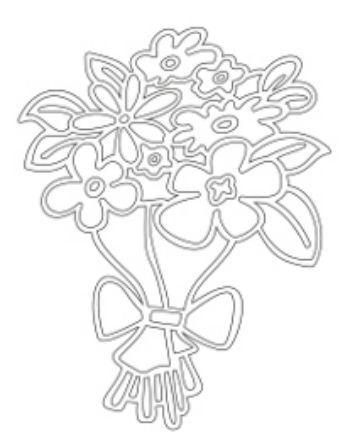 Трафарет для цветного песка Букет цветовКартины из песка<br>Трехслойная картонная основа с вырезанным лазером трафаретом для рисования песком. Формат А5.<br><br>Год: 2015<br>Высота: 145<br>Ширина: 210<br>Толщина: 1