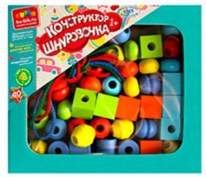 Конструктор Шнуровочка, 40 деталейЛабиринты, головоломки, конструкторы<br>Яркий конструктор-шнуровка надолго займет внимание вашего ребенка и не позволит ему скучать. Цель игры - нанизать на шнурок красочные элементы, оформленные разными геометрическими фигурами. Ребенку будет интересно каждый раз менять последовательность фигу...<br><br>Год: 2016