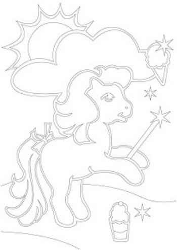 Трафарет для цветного песка Пони-волшебникКартины из песка<br>Трехслойная картонная основа с вырезанным лазером трафаретом для рисования цветным песком. Формат А5.<br><br>Год: 2016<br>Высота: 210<br>Ширина: 150<br>Толщина: 1