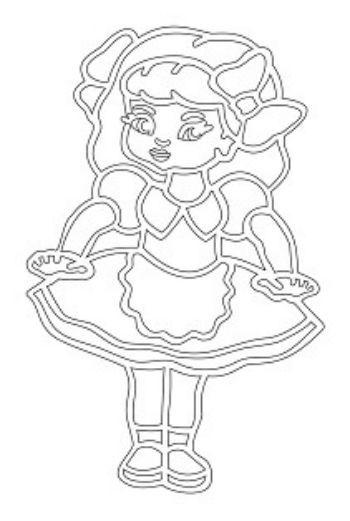 Трафарет для цветного песка Кукла МашаКартины из песка<br>Трехслойная картонная основа с вырезанным лазером трафаретом для рисования цветным песком. Формат А5.<br><br>Год: 2016<br>Высота: 210<br>Ширина: 150<br>Толщина: 1