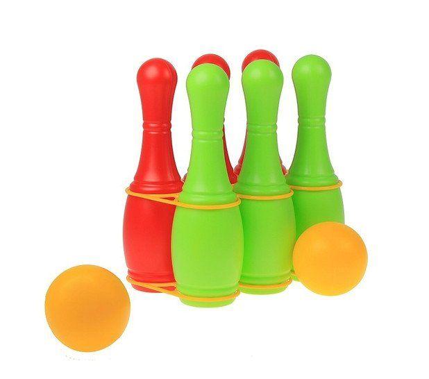 Игра КеглиИгрушки<br>Кегли и шарики - уникальная игрушка, которая неизменно будет радовать вашего ребёнка, а также поспособствует полноценному и гармоничному развитию его личности. В наборе кегли 6 штук и 2 шарика.Материал: пластик.<br><br>Год: 2017<br>Высота: 250<br>Ширина: 240<br>Толщина: 170