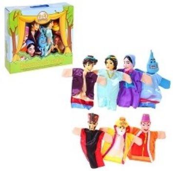 Кукольный театр Алладин, 7 куколРазвивающие игры<br>В комплект игры входят 7 кукол (джин, Алладин, принцесса Будур, султан, злой вошебник Магриб, мать Алладина, визирь).Куклы-перчатки подходят для любого размера руки: для руки родителя и для детской ручки. С помощью такого театра ребенок познакомится со ск...<br><br>Год: 2016<br>Высота: 320<br>Ширина: 360<br>Толщина: 75