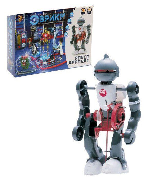 Конструктор Робот-акробатИгры и игрушки<br>Представляем вашему вниманию уникального робота-акробата. Робот может ходить, танцевать и даже кувыркаться. И неважно, сколько раз он споткнётся и упадёт, ведь он встаёт без посторонней помощи. Секрет заключается в оригинальном механизме трёх датчиков: на...<br><br>Год: 2016<br>Высота: 190<br>Ширина: 250<br>Толщина: 63