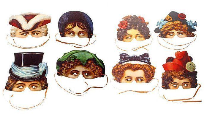 Набор карнавальных масок ДевичникКарнавальные костюмы, маски, парики<br>Карнавальные маски являются неотъемлемым атрибутом праздников. С помощью такой маски можно за одну секунду превратиться в другого человека или фантастическое создание. В набор входят:- 8 разных масок с атласными лентами.Материал: картон.<br><br>Год: 2016<br>Высота: 290<br>Ширина: 220<br>Толщина: 2