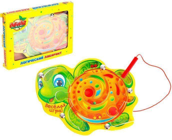 Магнитный логический лабиринт ЧерепашкаИгры и игрушки<br>Лабиринт магнитный малый Черепашка - занимательная и увлекательная головоломка, цель которой провести шарики по запутанному пути, используя магнитную палочку. Задачу можно усложнить и разнообразить: ваш малыш будет группировать шарики по цветам или по к...<br><br>Год: 2016<br>Высота: 135<br>Ширина: 170<br>Толщина: 12