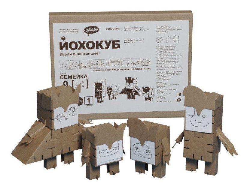 Конструктор из картона Йохокуб. СемейкаИгры и игрушки<br>Картонный конструктор Йохокуб - это самосборные кубики в наборе с крепежами и тематическими декоративными элементами для конструирования любых форм без использования клея. Игра развивает абстрактное мышление, конструкторские навыки, творческие способнос...<br><br>Год: 2016<br>Высота: 350<br>Ширина: 510<br>Толщина: 20