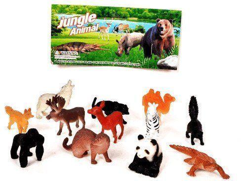 Набор животныхИгры и игрушки<br>В наборе: 12 фигурок диких животных.Размер фигурок: 5-6 см.Материал: пластик.<br><br>Год: 2016<br>Высота: 205<br>Ширина: 130<br>Толщина: 30