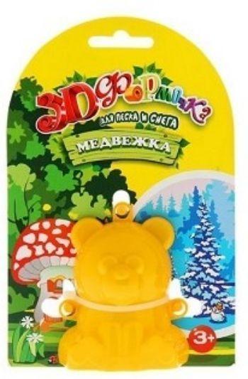 Формочка 3D МедвежкаИгры и игрушки<br>3D-формочка поможет ребенку сделать множество фигурок из снега и песка. Формочка изготовлена из плотной пластмассы. Ребенку необходимо наполнить формочку снегом, после того как он сформируется в готовую фигурку, формочку можно убрать. Такая 3D-формочка по...<br><br>Год: 2016<br>Высота: 160<br>Ширина: 110<br>Толщина: 50