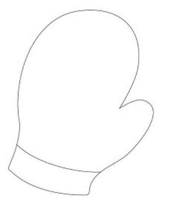 Трафарет для цветного песка РукавичкаКартины из песка<br>Трехслойная картонная основа с вырезанным лазером трафаретом для рисования песком. Формат А6.<br><br>Год: 2017<br>Высота: 150<br>Ширина: 105<br>Толщина: 1