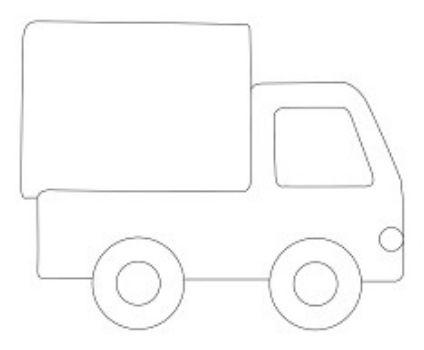 Трафарет для цветного песка ГрузовикКартины из песка<br>Трехслойная картонная основа с вырезанным лазером трафаретом для рисования песком.Формат А6.<br><br>Год: 2017<br>Высота: 105<br>Ширина: 150<br>Толщина: 1
