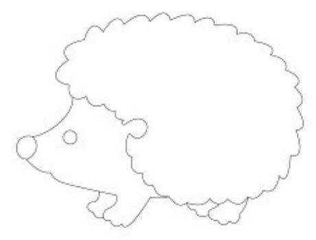Трафарет для цветного песка ЕжикКартины из песка<br>Трехслойная картонная основа с вырезанным лазером трафаретом для рисования песком.Формат А6.<br><br>Год: 2017<br>Высота: 105<br>Ширина: 150<br>Толщина: 1