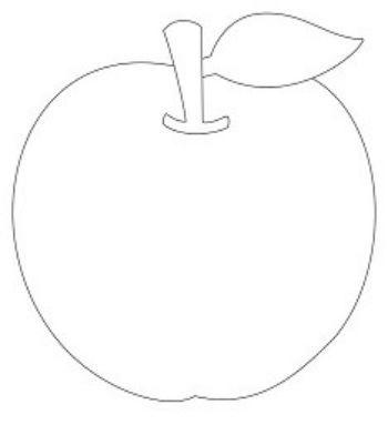 Трафарет для цветного песка ЯблокоКартины из песка<br>Трехслойная картонная основа с вырезанным лазером трафаретом для рисования песком. Формат А6.<br><br>Год: 2017<br>Высота: 150<br>Ширина: 105<br>Толщина: 1
