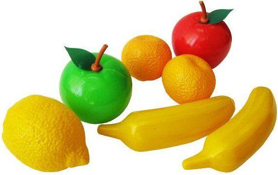 Игровой набор Фруктовое ассортиИгрушки<br>Игровой набор Фруктовое ассорти позволит весело и полезно провести время. Во время игры ребенок познакомится с различными цветами, научится различать фигуры, разовьет моторику руки.В наборе 8 предметов: 2 яблока, 2 банана, 2 мандарина, лимон, тарелка.Ма...<br><br>Год: 2017<br>Высота: 150<br>Ширина: 150<br>Толщина: 90