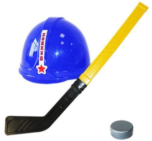 Игровой набор ХоккеистИгры и игрушки<br>В игровой набор входят: клюшка - 1 шт., шайба - 1 шт., шлем - 1 шт.Высота клюшки 63 см.Материал: пластмасса.<br><br>Год: 2017