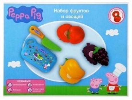 Игровой набор Фрукты и овощи, 5 предметовИгры и игрушки<br>Игровой набор позволит весело и полезно провести время. Во время игры ребенок познакомится с различными цветами, научится различать фигуры, разовьет моторику руки.В наборе 5 предметов: нож, разделочная доска, помидор, виноград, груша.Материал: пластмасса...<br><br>Год: 2017<br>Высота: 150<br>Ширина: 200<br>Толщина: 50