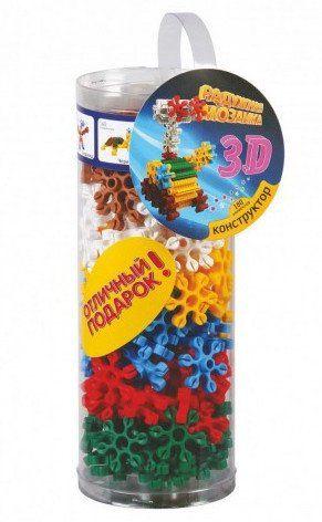 Конструктор Радужная мозаика 3D, 180 элементовИгры и игрушки<br>Радужная мозаика 3D - это увлекательный конструктор для детей. Новая форма мозаики с возможностью сборки объемных фигур, собирается со всех сторон под разным углом, яркие цвета. Игра развивает мелкую моторику, творческое воображение, память и фантазию, ...<br><br>Год: 2017<br>Высота: 260<br>Ширина: 100<br>Толщина: 100