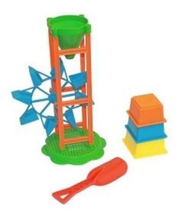 Песочный набор ФиксикиИгры и игрушки<br>В набор входит мельница, совочек, формочки 3 шт.Состав: пластмасса.Для детей от 2-х лет.<br><br>Год: 2017<br>Высота: 240<br>Ширина: 150<br>Толщина: 140