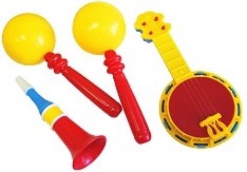 Игровой набор Этно-музыкаИгры и игрушки<br>В набор входит банджо, дудочка, маракас 2 штуки.Состав: пластмасса.Для детей от 3-х лет.<br><br>Год: 2017<br>Высота: 240<br>Ширина: 160<br>Толщина: 100