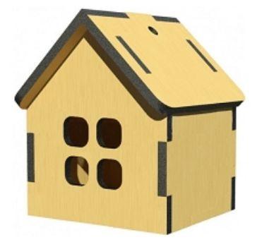 Сборная деревянная модель ДомикКонструирование из дерева, из пластика, оригами<br>Деревянные игрушки предназначены для самостоятельной сборки детьми с родителями. Подходит для декупажа акриловыми красками и лаком. Детали собираются с усилием для обеспечения требуемой жесткости и прочности конструкции.Рекомендуется для самостоятельного ...<br><br>Год: 2017<br>Высота: 160<br>Ширина: 160<br>Толщина: 3