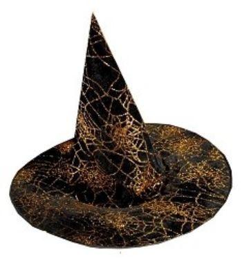 Карнавальная шляпа Паутина, золотоКарнавальные костюмы, маски, парики<br>Материал: текстиль.<br><br>Год: 2017<br>Высота: 430<br>Ширина: 420<br>Толщина: 330