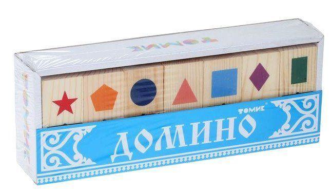 Домино Геометрические фигурыЗанятия с детьми дошкольного возраста<br>Набор состоит из 28 деревянных карточек домино, на которых изображены геометрические фигуры: синий круг, фиолетовый ромб, оранжевый пятиугольник, красная звезда, голубой квадрат, розовый треугольник и зелёный прямоугольник.Выкладывая красочные карточки до...<br><br>Год: 2017<br>Высота: 80<br>Ширина: 220<br>Толщина: 40