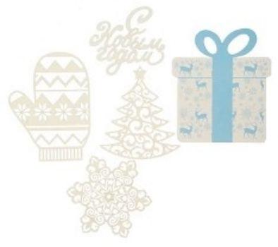 Набор для оформления Нового года ПодаркиТовары для оформления и проведения праздника<br>В набор входит;- варежка - 3 шт.;- снежинка - 3 шт.;- подарок - 3 шт.;- елка - 3 шт.;- надпись С Новым годом! - 1 шт.Материал: бумага.<br><br>Год: 2018<br>Высота: 150<br>Ширина: 130<br>Толщина: 2