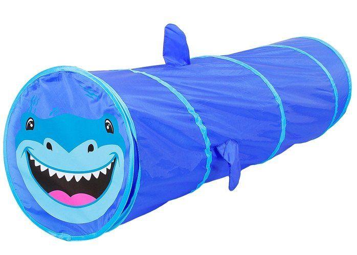 Детский туннель Акула, синийДомики и палатки<br>Размер туннеля 120х48х48 см.Материал: текстиль.<br><br>Год: 2017<br>Высота: 480<br>Ширина: 480<br>Толщина: 100
