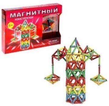 Конструктор магнитный Весёлая карусель, 68 деталейГоловоломки и конструкторы<br>Думаете, наука это сложно? С невероятным магнитным конструктором малыш узнает много интересного о физических явлениях, магнетизме и геометрии.Из ярких палочек и металлических шариков получится собрать необычные трёхмерные модели: для этого комбинируйте де...<br><br>Год: 2017<br>Высота: 196<br>Ширина: 285<br>Толщина: 40