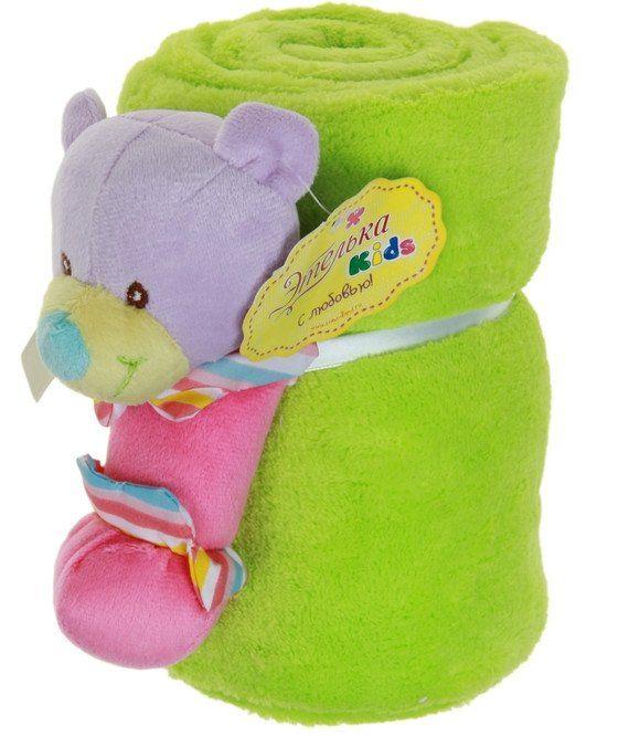Набор подарочный для новорождённых Этелька. МедвежонокМягкие игрушки<br>Набор подарочный для новорождённых изготовлен из нежного на ощупь корал-флиса - синтетического трикотажного полотна, которое обладает массой приятных свойств. Благодаря им плед поддерживает комфортную температуру тела, не создавая парникового эффекта; не ...<br><br>Год: 2017<br>Высота: 300<br>Ширина: 200<br>Толщина: 200