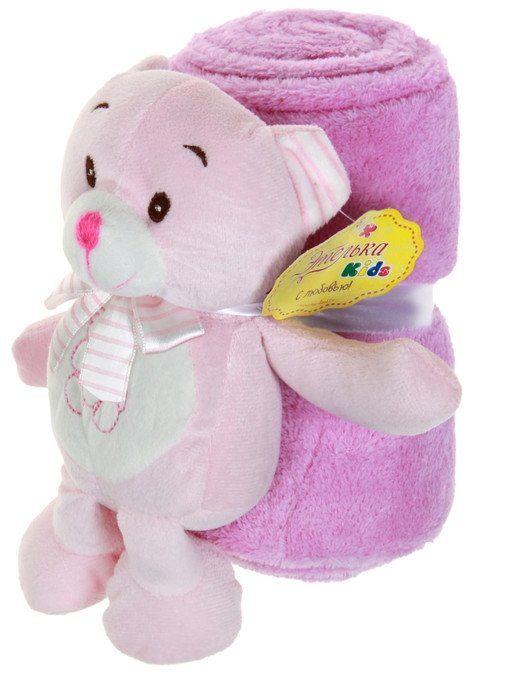 Набор подарочный для новорождённых Этелька. МишуткаМягкие игрушки<br>Набор подарочный для новорождённых изготовлен из нежного на ощупь корал-флиса - синтетического трикотажного полотна, которое обладает массой приятных свойств. Благодаря им плед: поддерживает комфортную температуру тела, не создавая парникового эффекта; не...<br><br>Год: 2017<br>Высота: 300<br>Ширина: 200<br>Толщина: 150