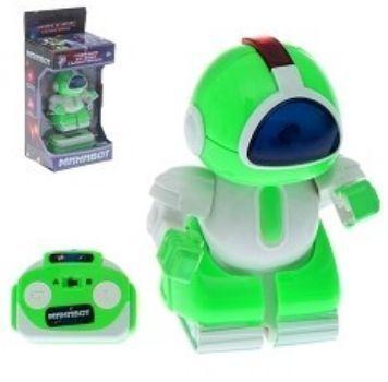 Робот радиоуправляемый МиниботИгры и игрушки<br>Радиоуправляемый робот Минибот очень похож на пришельца с другой планеты. Игрушка несомненно заинтересует мальчишку, ведь управлять роботом можно дистанционно при помощи пульта, что делает игру с ним очень увлекательной. Также робот оснащен световыми мо...<br><br>Год: 2017<br>Высота: 150<br>Ширина: 85<br>Толщина: 65