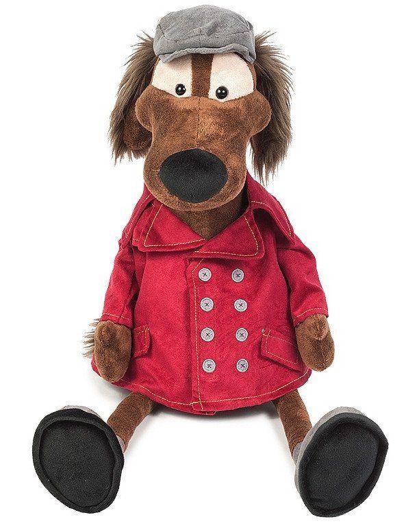 Игрушка мягконабивная Пес Шерлок в куртке, 23 смМягкие игрушки<br>Мягкая игрушка Пес Шерлок в куртке выглядит очень забавно. Игрушка выполнена из искусственного меха и наполнителя, мягкая и приятная на ощупь, а красная курточка и серая кепочка дополняют образ добродушного и добропорядочного пса. Такая собака станет пр...<br><br>Год: 2017<br>Высота: 230<br>Ширина: 100<br>Толщина: 100