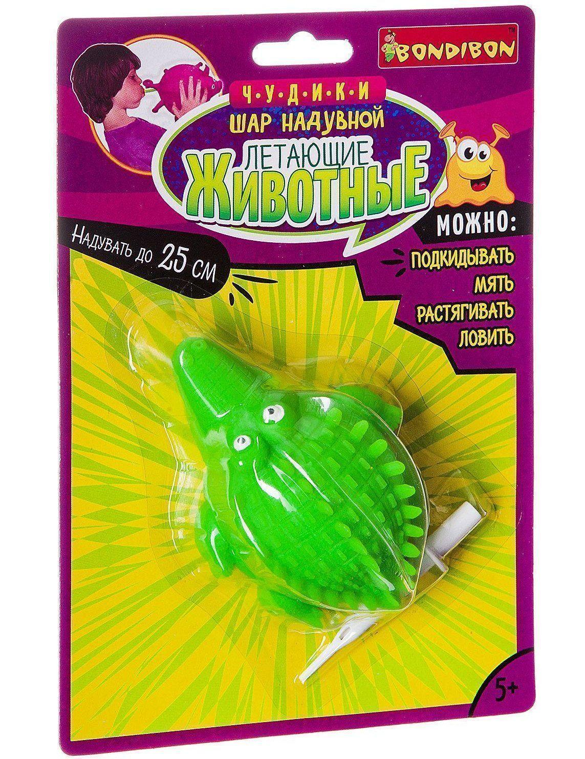 Шар надувной Летающие звери. КрокодилИгры и игрушки<br>Надувной шар в виде морского животного - прекрасное развлечение для детей. Его можно подкидывать, ловить, мять, растягивать, играть в вышибалы и не бояться получить ушибы и травмы. Легко накачать при помощи специального приспособления, входящего в комплек...<br><br>Год: 2017<br>Высота: 225<br>Ширина: 150<br>Толщина: 70