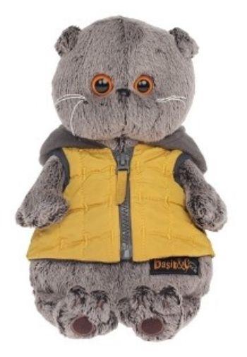 Игрушка мягкая Кот Басик в желтой жилетке с серым капюшоном, 25 смМягкие игрушки<br>Мягкая игрушка Кот Басик - забавный плюшевой зверек, который несомненно понравится как взрослым, так и детям. Игрушка выполнена в виде серого котика, на которого надета яркая желтая жилетка с серым капюшоном. Шерстка игрушечного зверька изготовлена из к...<br><br>Год: 2017<br>Высота: 250<br>Ширина: 170<br>Толщина: 140