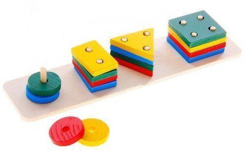 Пирамидка логическая Учимся считатьПирамидки<br>Интересная логическая пирамидка Учимся считать позволит ребятишкам забыть про скуку и провести время с пользой. С ее помощью мальчики и девочки смогут познакомиться с цифрами, научиться считать, а также тренировать логическое мышление и усидчивость во в...<br><br>Год: 2017<br>Высота: 45<br>Ширина: 220<br>Толщина: 65