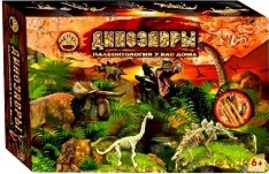 Набор для творчества Динозавры. Палеонтология у вас домаНастольные игры<br>С помощью игрового набора Динозавры. Палеонтология у вас дома из серии Раскопки: динозаврики, ваш ребенок сможет стать палеонтологом и обнаружить скелеты Брахиозавра и Стегозавра - одних из самых впечатляющих хищников, которые только ходили по Земле. ...<br><br>Год: 2017<br>Высота: 175<br>Ширина: 265<br>Толщина: 70