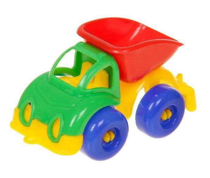 Самосвал Малютка, миксИгры и игрушки<br>С помощью игрушечных машинок малыши осваивают простые сюжетные действия: катать машинку, перевозить груз. Дети постарше используют транспортные игрушки для придумывания более сложных сюжетно-ролевых игр.Материал: пластмасса.Машинки представлены в ассортим...<br><br>Год: 2018<br>Высота: 40<br>Ширина: 95<br>Толщина: 40