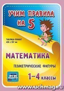 Математика. Геометрические фигуры. 1-4 классы: Таблица-плакат 420х297