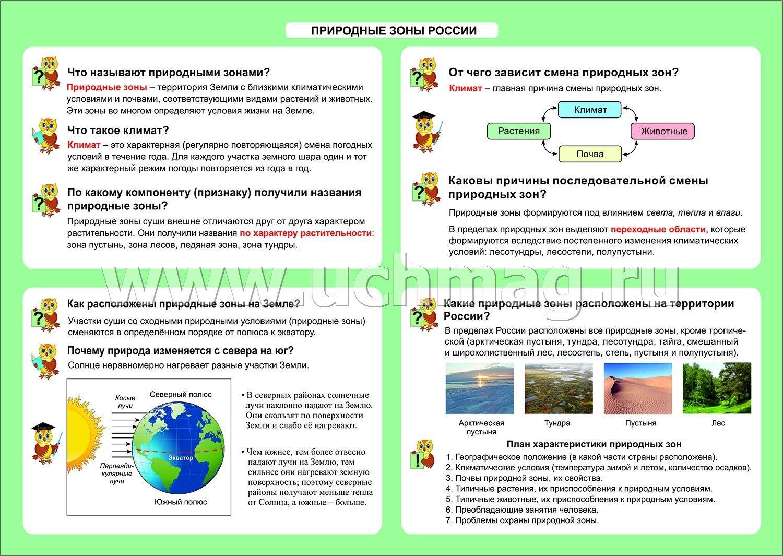Конспект урока природные зоны земли