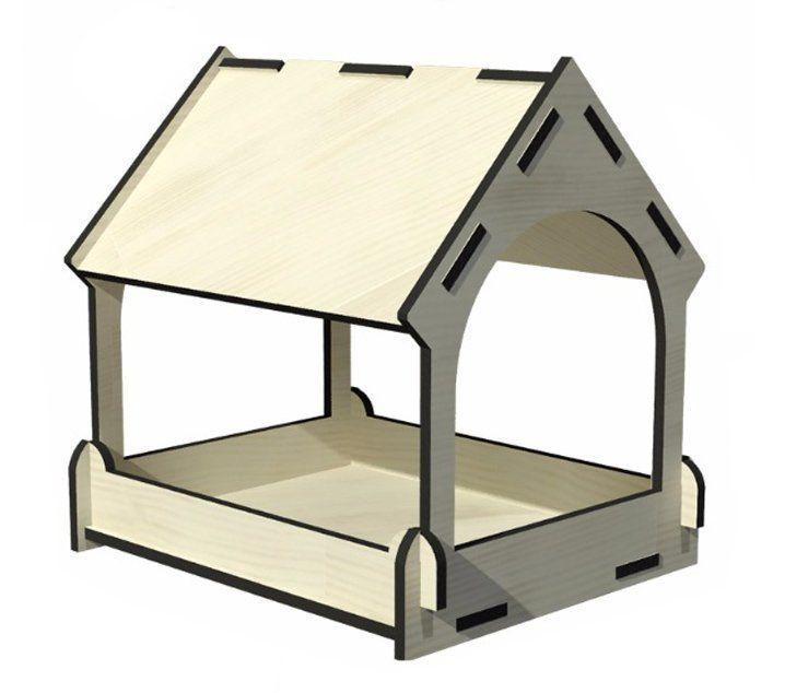 Сборная деревянная модель Кормушка для птиц